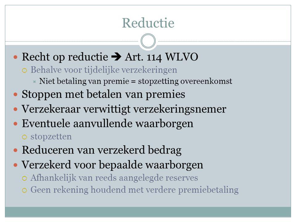  Recht op reductie  Art.