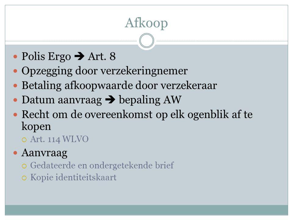 Afkoop  Polis Ergo  Art.