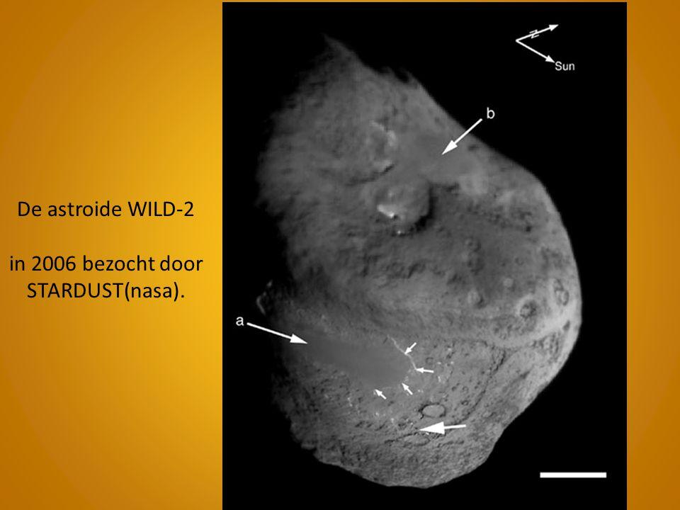 De astroide WILD-2 in 2006 bezocht door STARDUST(nasa).