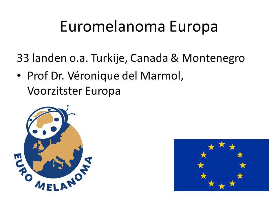 Euromelanoma Europa 33 landen o.a.Turkije, Canada & Montenegro • Prof Dr.
