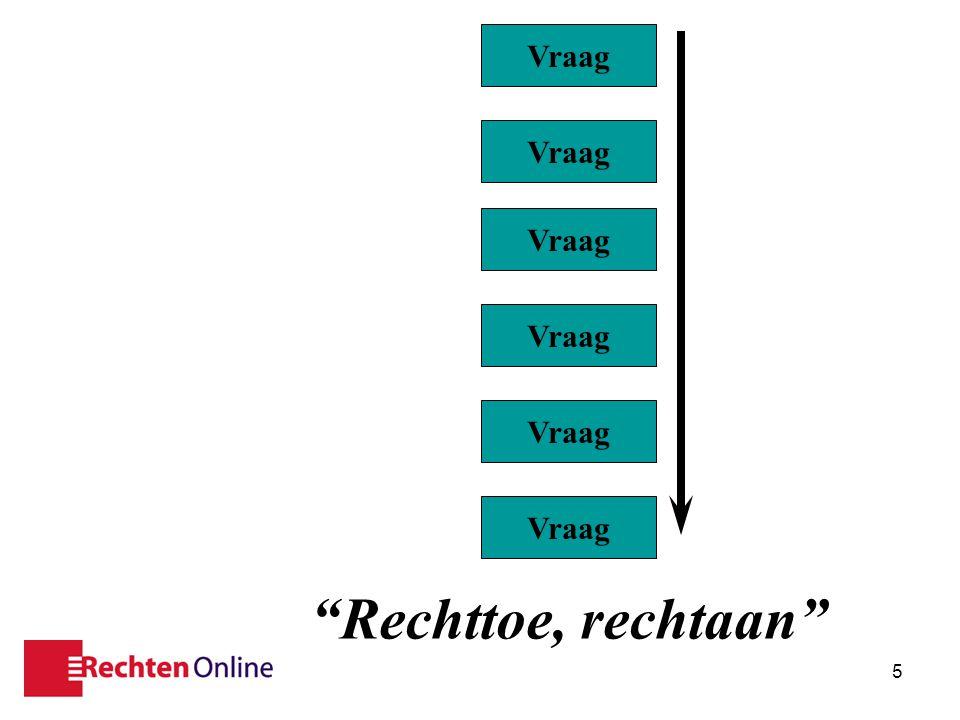 """17 nov 20115 Vraag """"Rechttoe, rechtaan"""""""