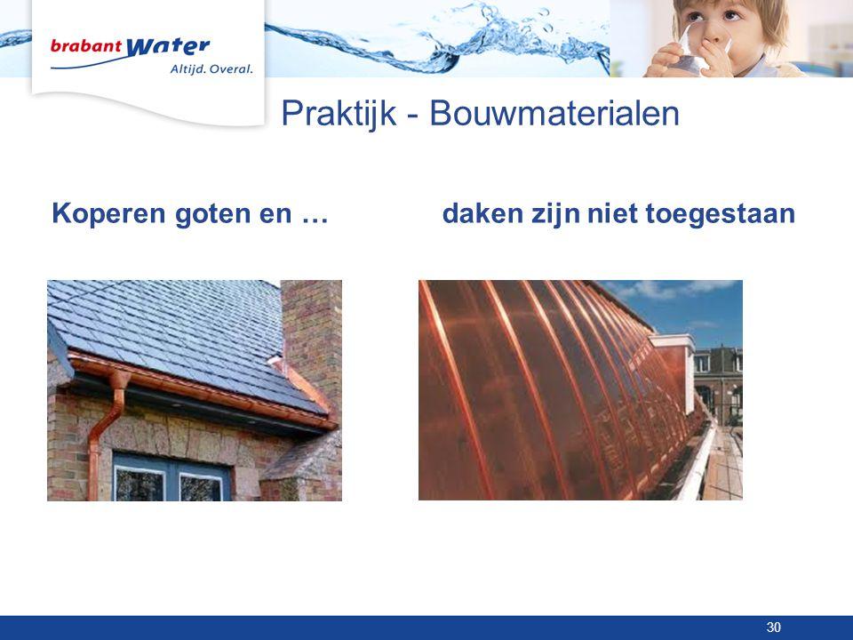 Praktijk - Bouwmaterialen Koperen goten en …daken zijn niet toegestaan 30
