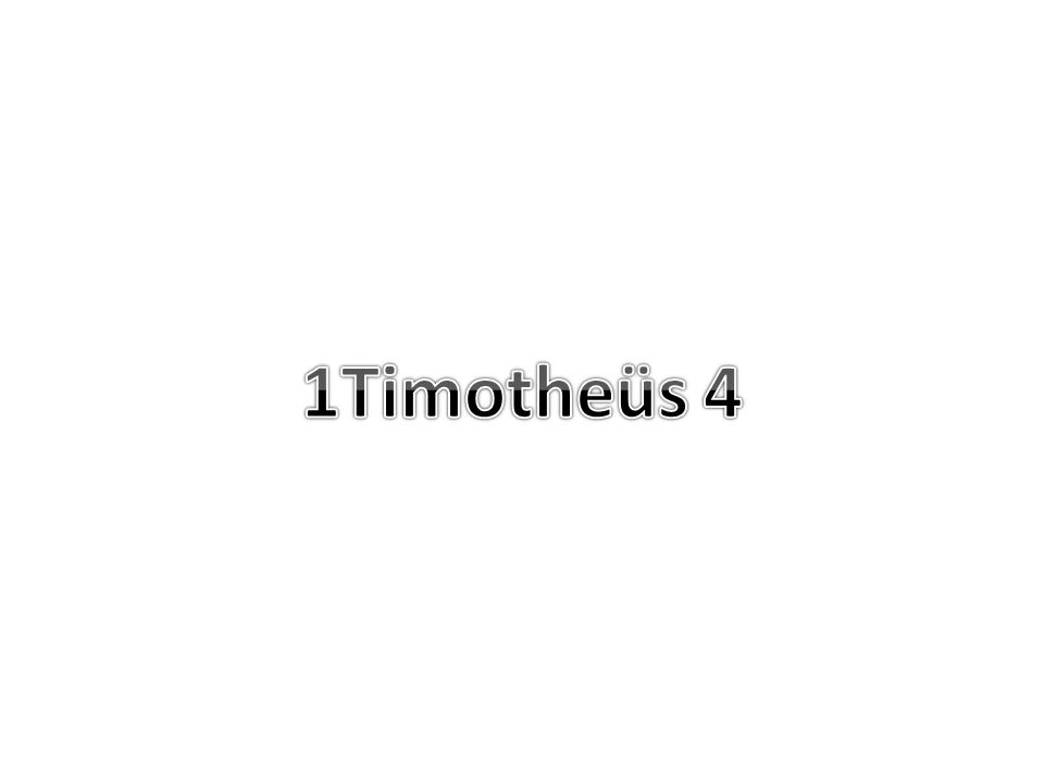 1Timotheus 4 1 Maar de Geest zegt nadrukkelijk, dat in latere tijden sommigen zullen afvallen van het geloof, doordat zij dwaalgeesten en leringen van boze geesten volgen,