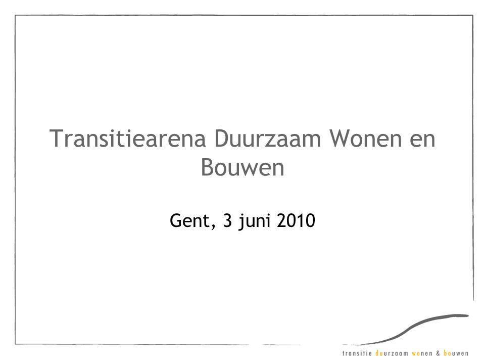 Transitiearena Duurzaam Wonen en Bouwen Gent, 3 juni 2010