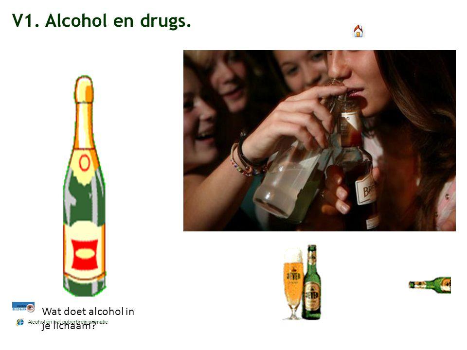 V1. Alcohol en drugs. Alcohol en het puberbrein animatie Wat doet alcohol in je lichaam?