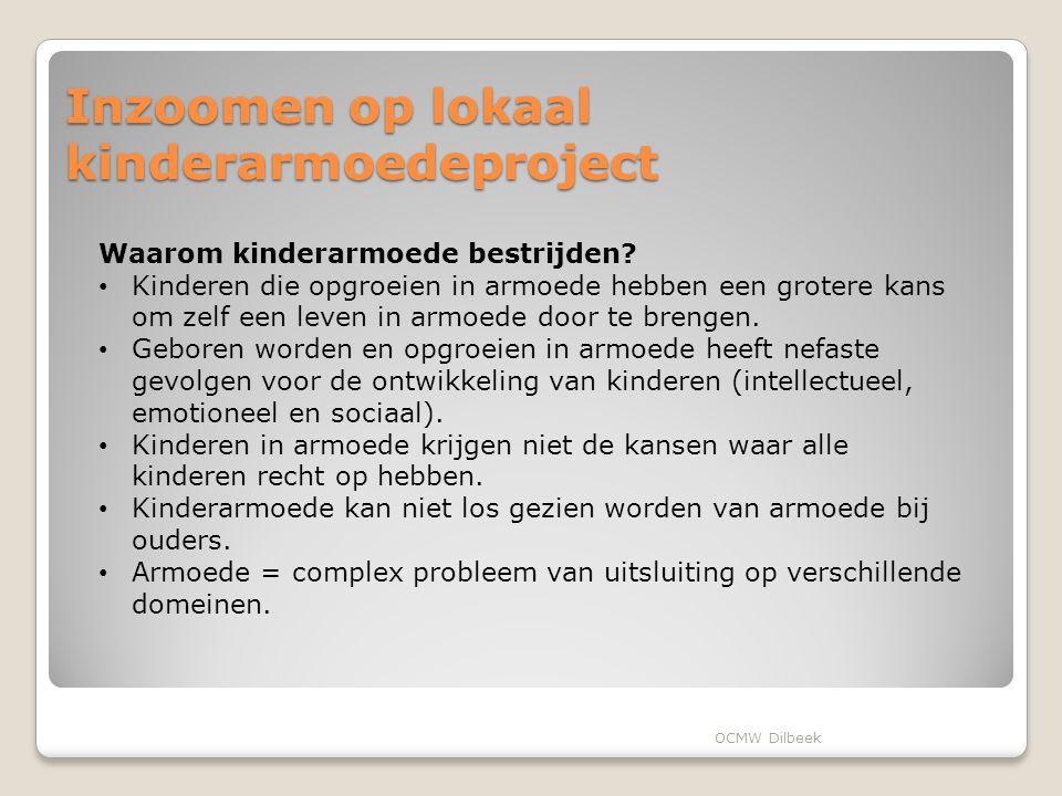Inzoomen op lokaal kinderarmoedeproject Waarom kinderarmoede bestrijden.