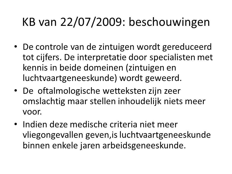 KB van 22/07/2009: beschouwingen • De controle van de zintuigen wordt gereduceerd tot cijfers.