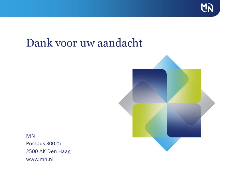 MN Postbus 30025 2500 AK Den Haag www.mn.nl Dank voor uw aandacht