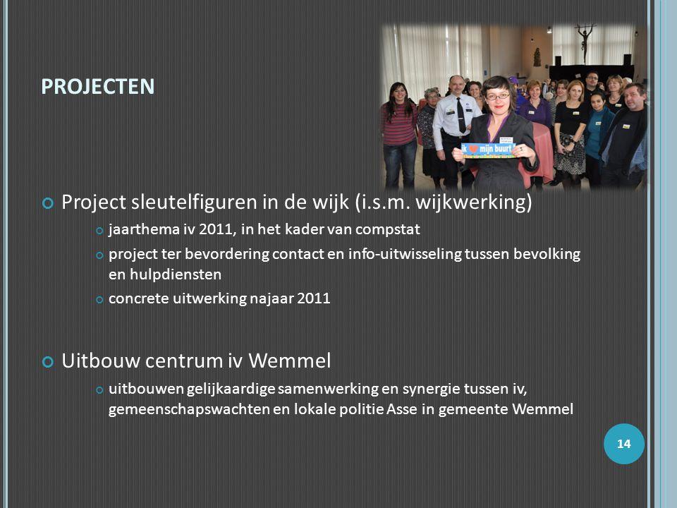 PROJECTEN Project sleutelfiguren in de wijk (i.s.m. wijkwerking) jaarthema iv 2011, in het kader van compstat project ter bevordering contact en info-