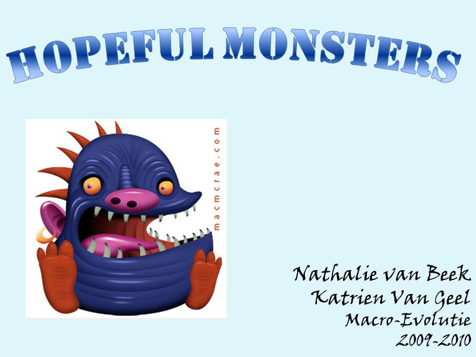Nathalie van Beek Katrien Van Geel Macro-Evolutie 2009-2010