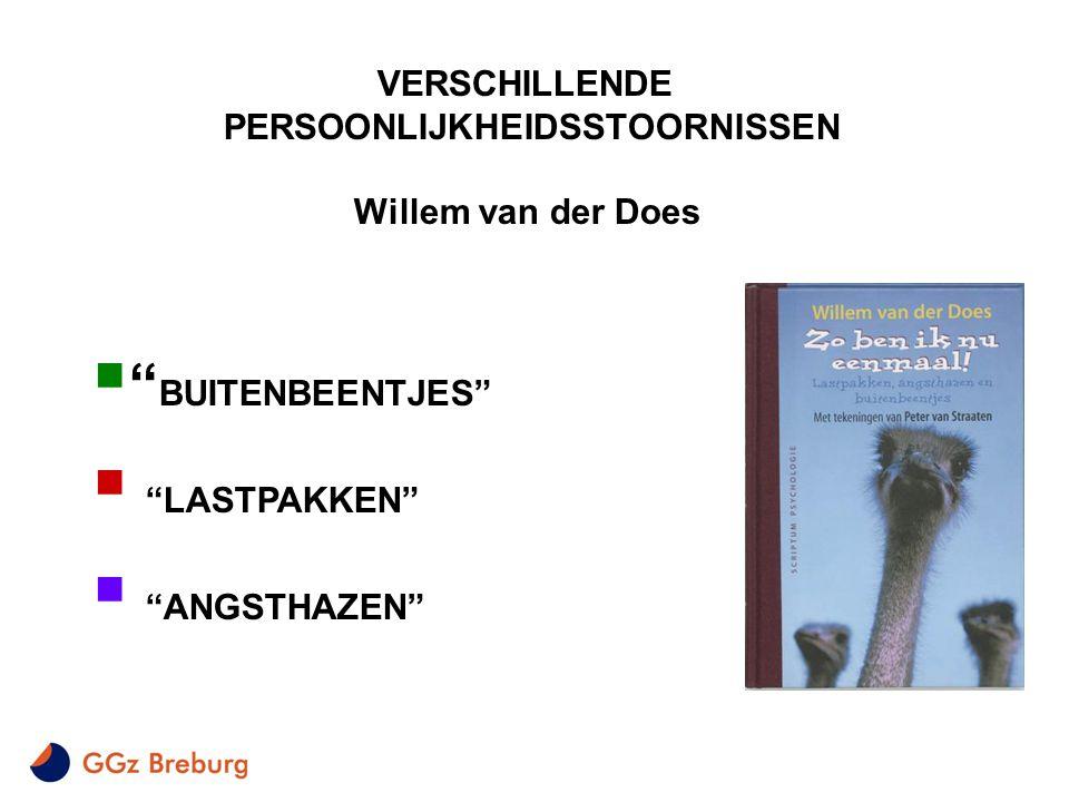 """VERSCHILLENDE PERSOONLIJKHEIDSSTOORNISSEN Willem van der Does  """" BUITENBEENTJES""""  """"LASTPAKKEN""""  """"ANGSTHAZEN"""""""