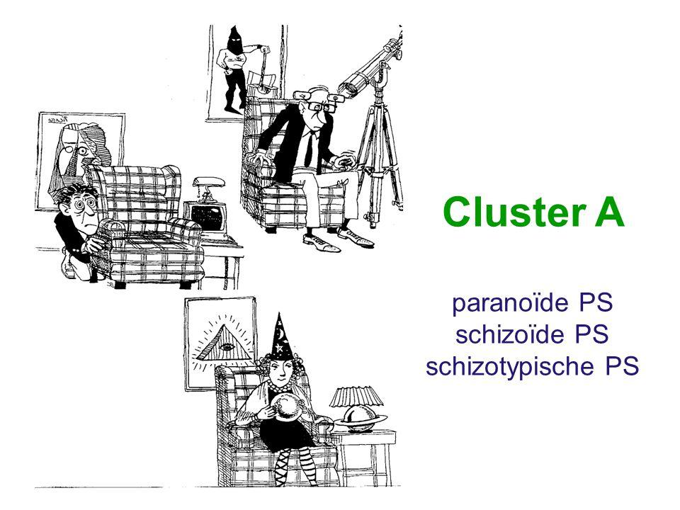 Cluster A paranoïde PS schizoïde PS schizotypische PS