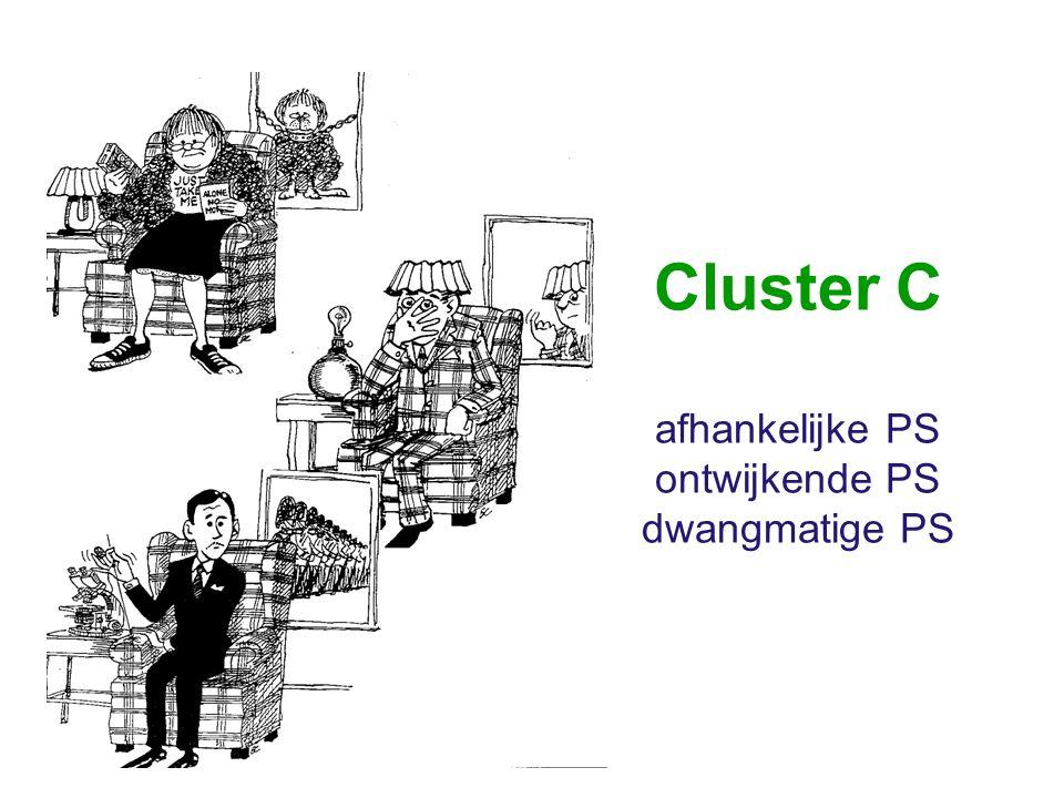 Cluster C afhankelijke PS ontwijkende PS dwangmatige PS