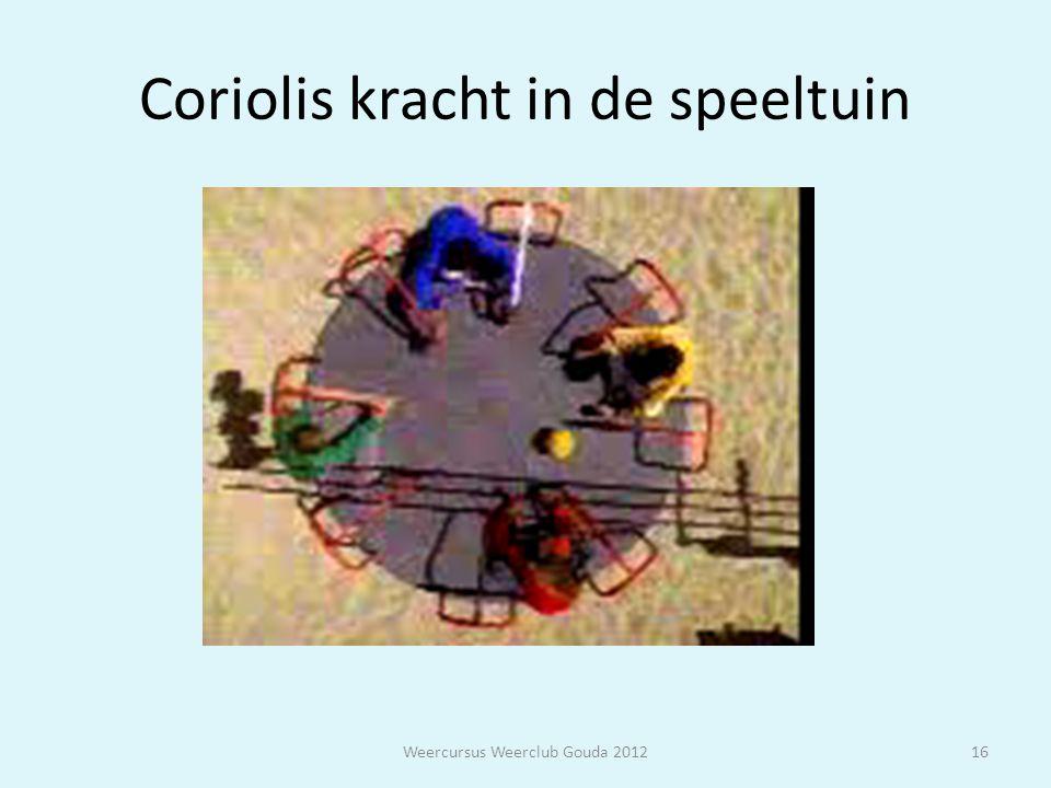 Coriolis kracht in de speeltuin Weercursus Weerclub Gouda 201216