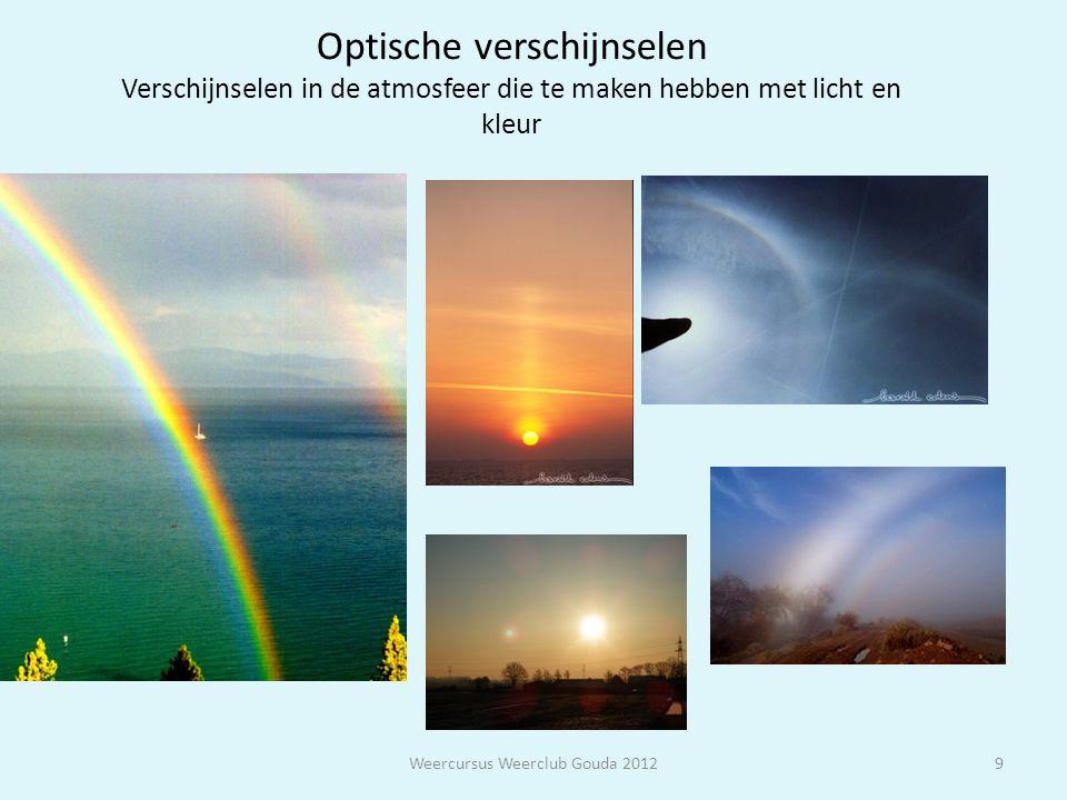 9 Optische verschijnselen Verschijnselen in de atmosfeer die te maken hebben met licht en kleur