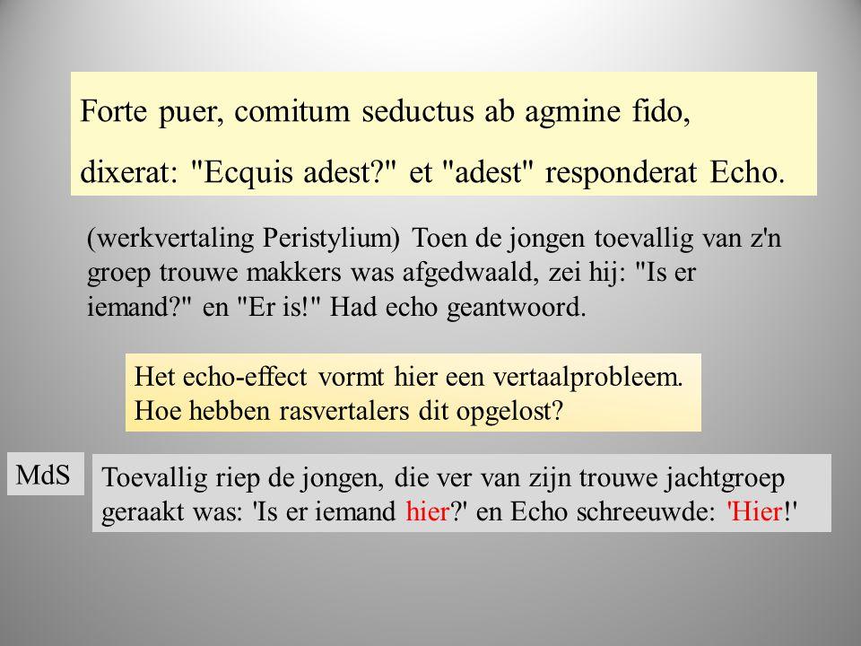 boek 2 Forte puer, comitum seductus ab agmine fido, dixerat: