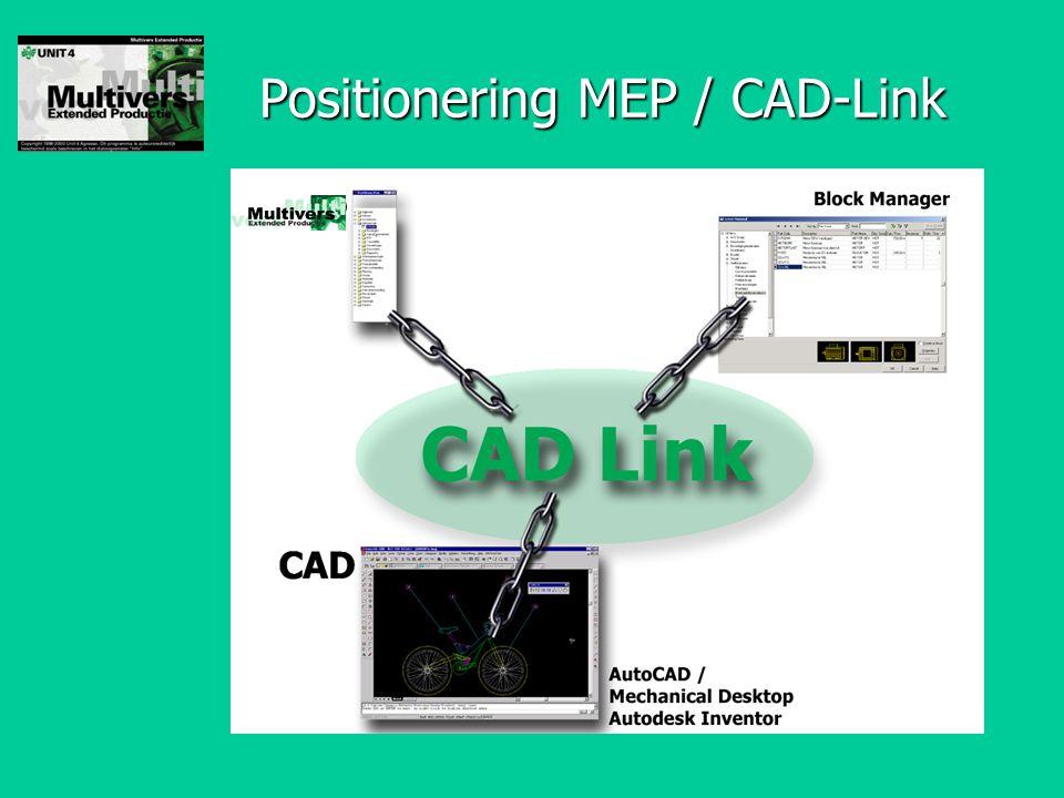 Positionering MEP / CAD-Link