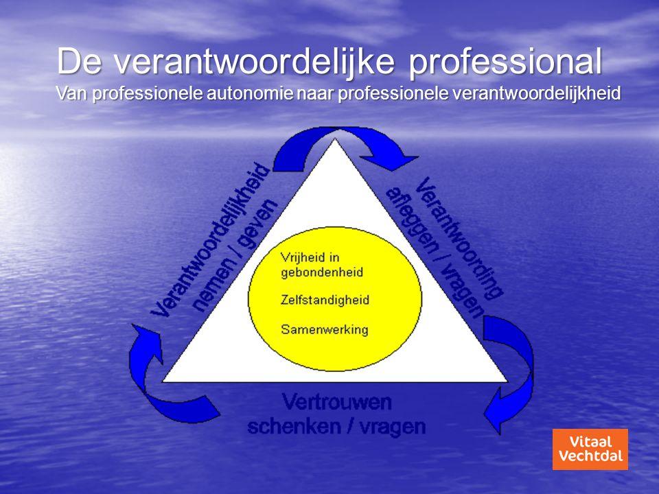 De verantwoordelijke professional Van professionele autonomie naar professionele verantwoordelijkheid