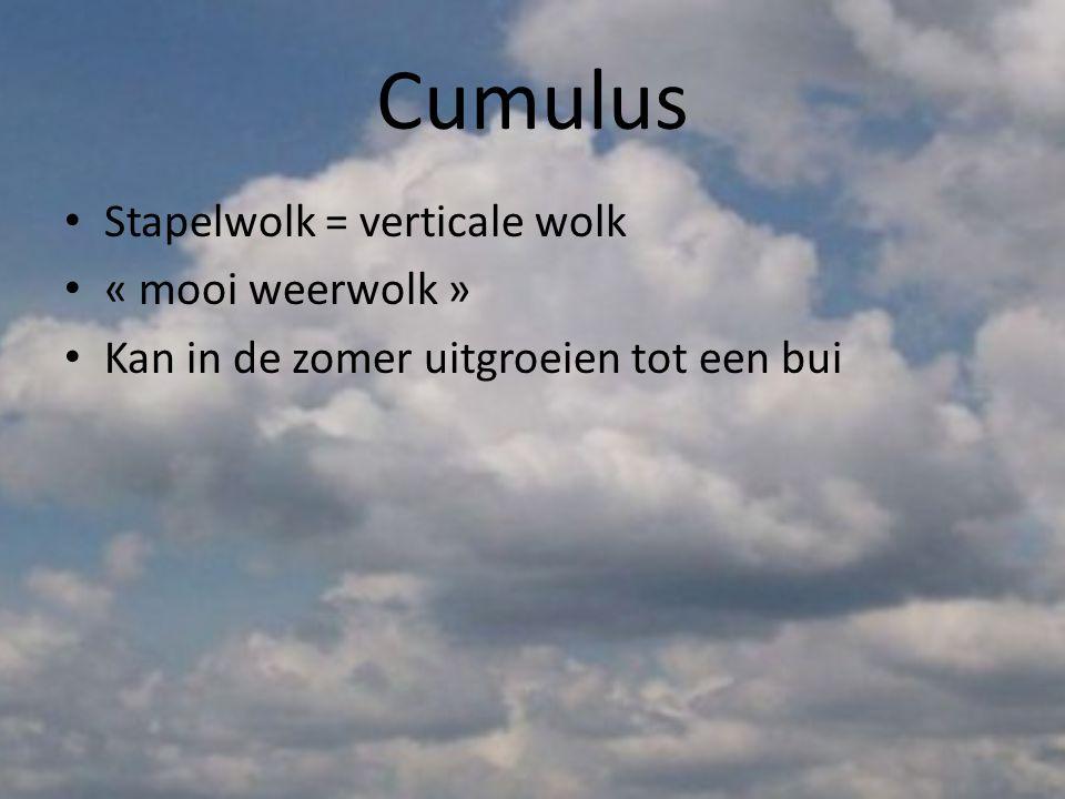 Stratocumulus • Grote, grijze of witachtige wolkenflarden met af en toe heldere stukken
