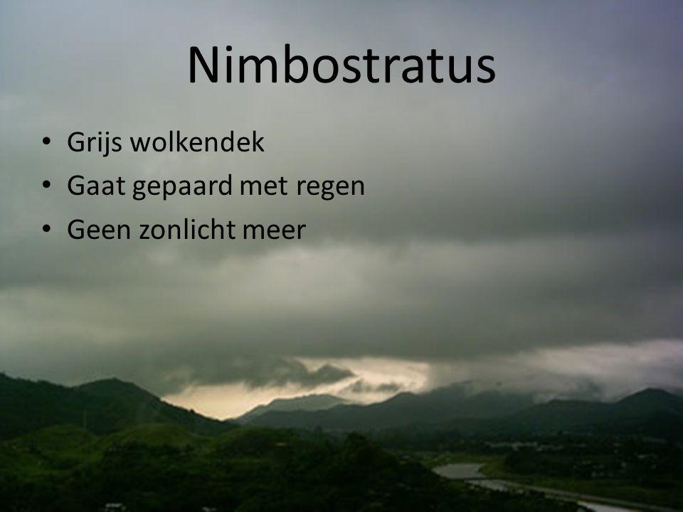 Altocumulus • Idem altostratus: voorbode slecht weer