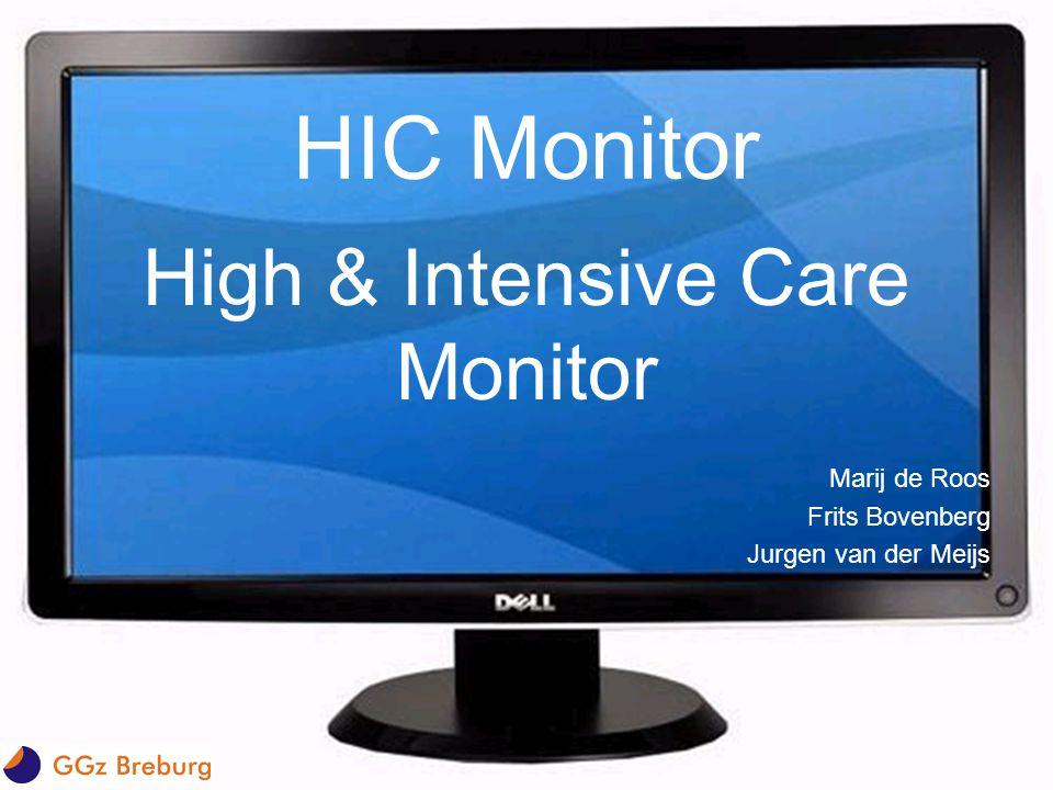 HIC Monitor High & Intensive Care Monitor Marij de Roos Frits Bovenberg Jurgen van der Meijs