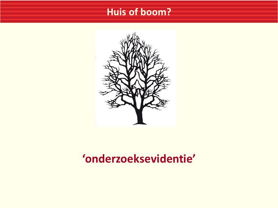 Huis of boom? 'onderzoeksevidentie'
