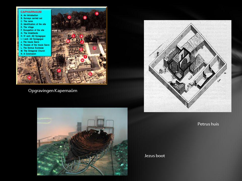 Petrus huis Jezus boot Opgravingen Kapernaüm