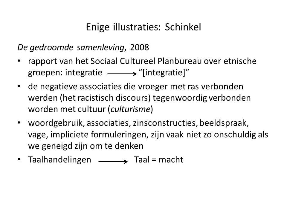 """Enige illustraties: Schinkel De gedroomde samenleving, 2008 • rapport van het Sociaal Cultureel Planbureau over etnische groepen: integratie """"[integra"""