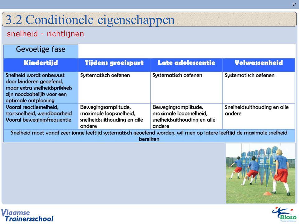 57 3.2 Conditionele eigenschappen snelheid - richtlijnen
