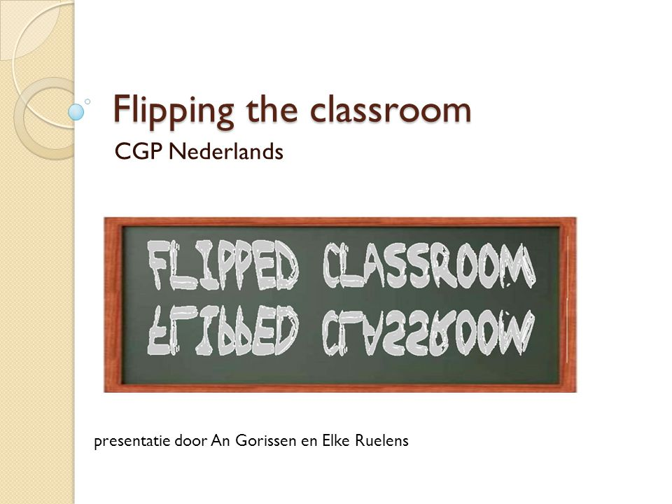 Wat is 'flipping the classroom'.