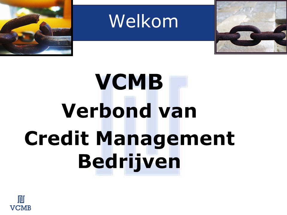 VCMB VCMB verenigt de belangrijkste Credit Management organisaties in alle disciplines.
