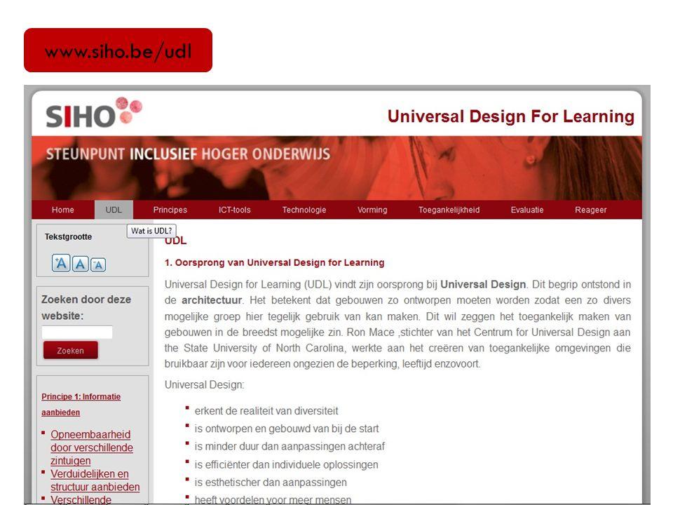 3.Universal Design.(4) 14 Inhoud 1.Wie zijn jullie.