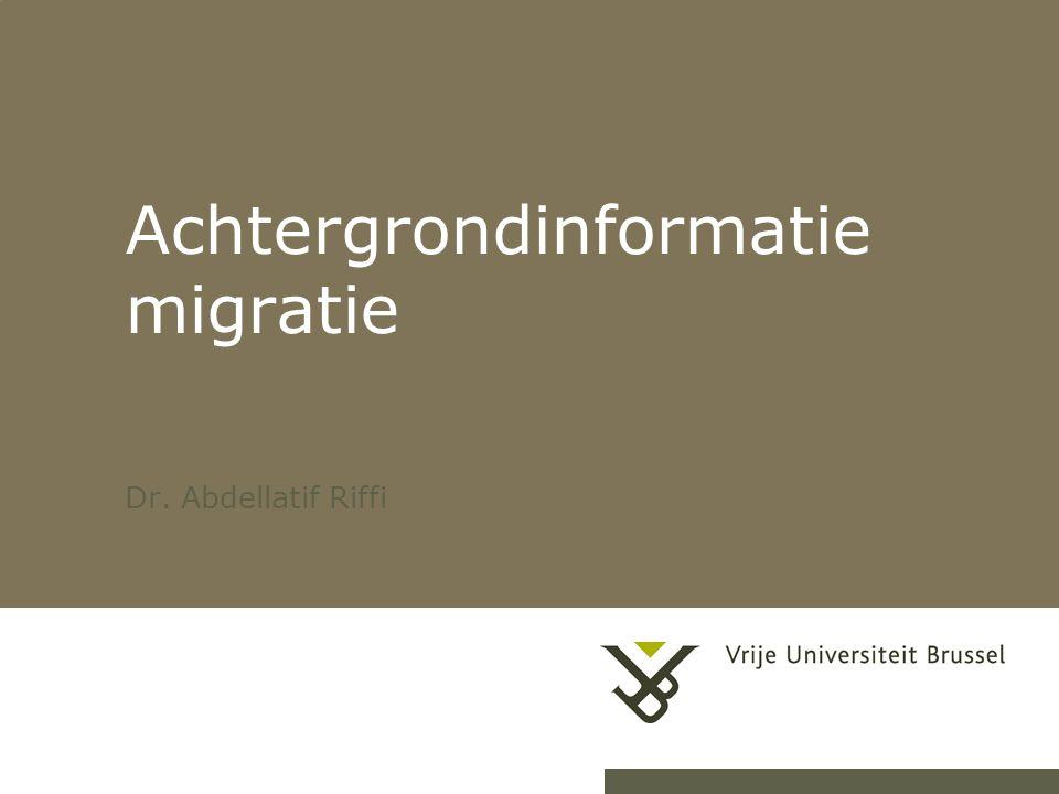 Achtergrondinformatie migratie Dr. Abdellatif Riffi