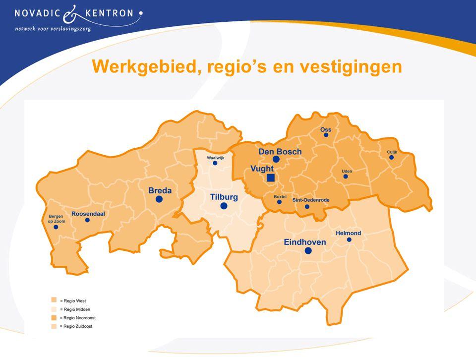 2 Werkgebied, regio's en vestigingen