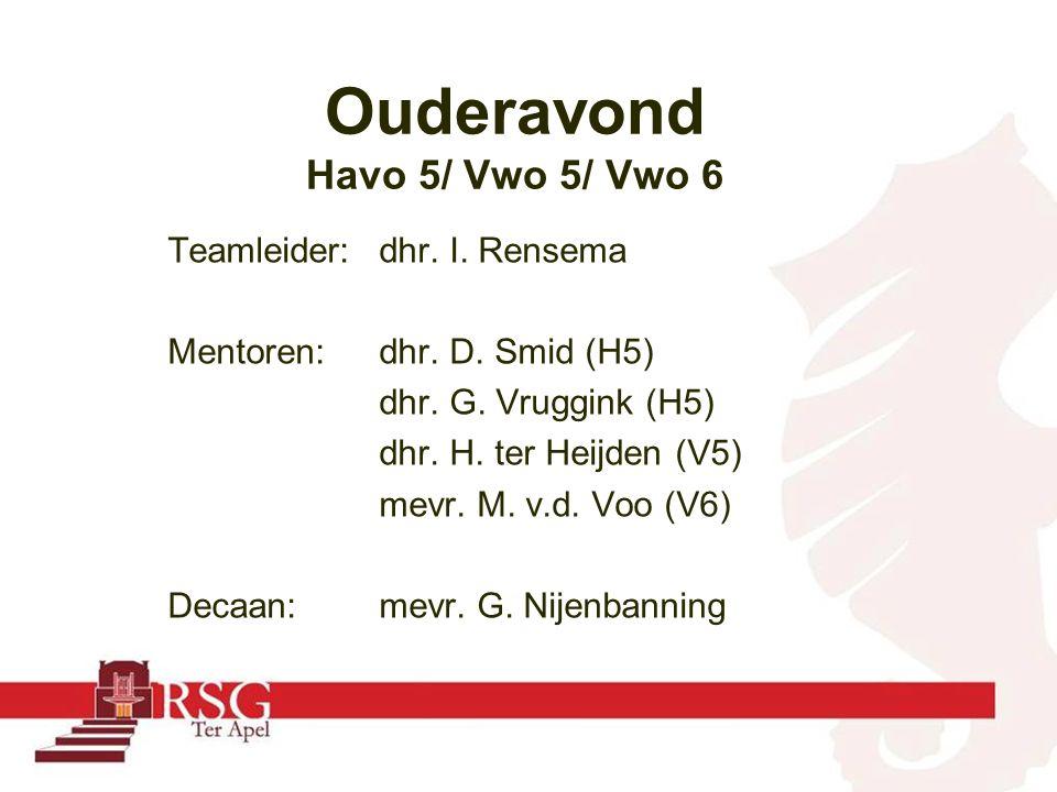 Teamleider:dhr. I. Rensema Mentoren: dhr. D. Smid (H5) dhr.
