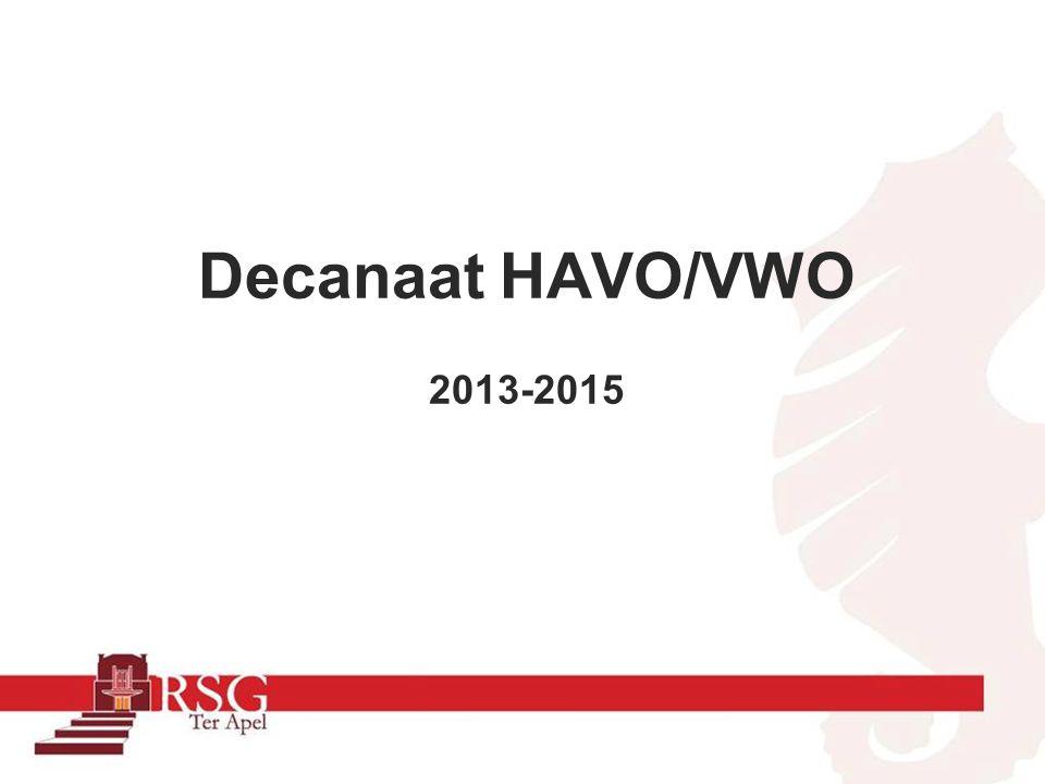 Decanaat HAVO/VWO 2013-2015