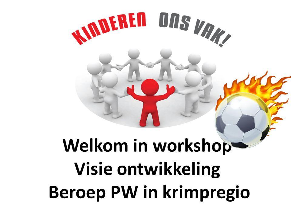 Welkom in workshop Visie ontwikkeling Beroep PW in krimpregio