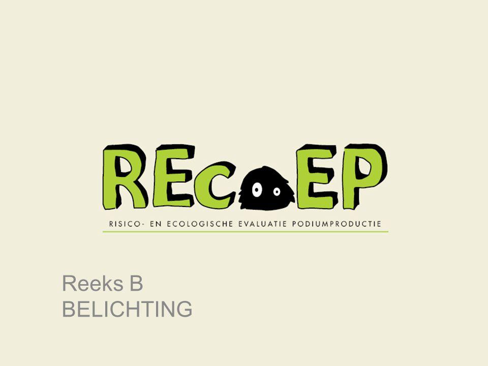 Links A7-62 | REcoEP | Duurzaamheid | Info & links Neem voor meer informatie, documentatie, tools en links een kijkje op http://www.podiumtechnieken.be/onderzoek/recoep.