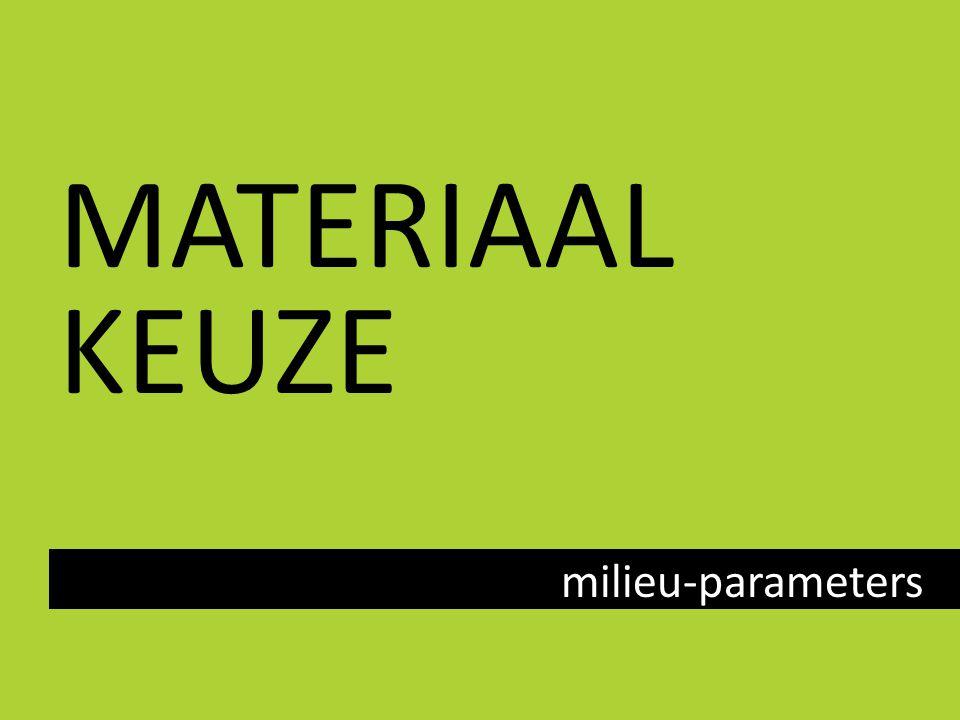 MATERIAAL KEUZE milieu-parameters