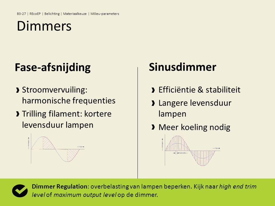 Stroomvervuiling: harmonische frequenties Trilling filament: kortere levensduur lampen Fase-afsnijding Efficiëntie & stabiliteit Langere levensduur la