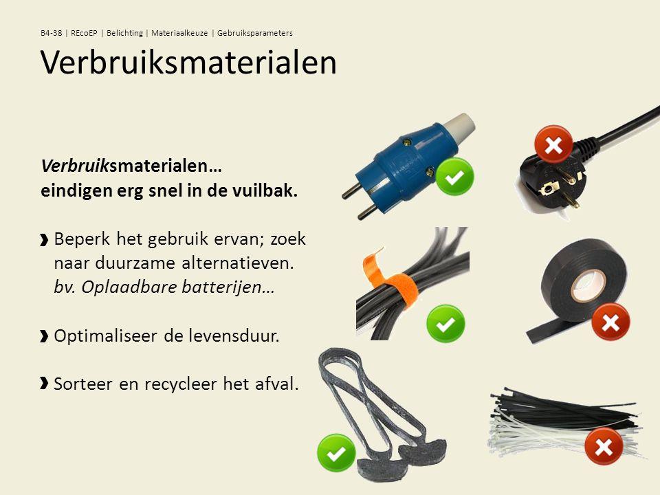 Verbruiksmaterialen… eindigen erg snel in de vuilbak. Beperk het gebruik ervan; zoek naar duurzame alternatieven. bv. Oplaadbare batterijen… Optimalis
