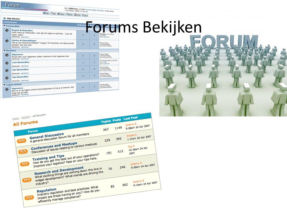 Forums Bekijken
