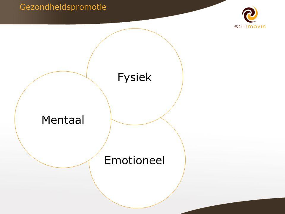 Emotioneel Fysiek Gezondheidspromotie Mentaal