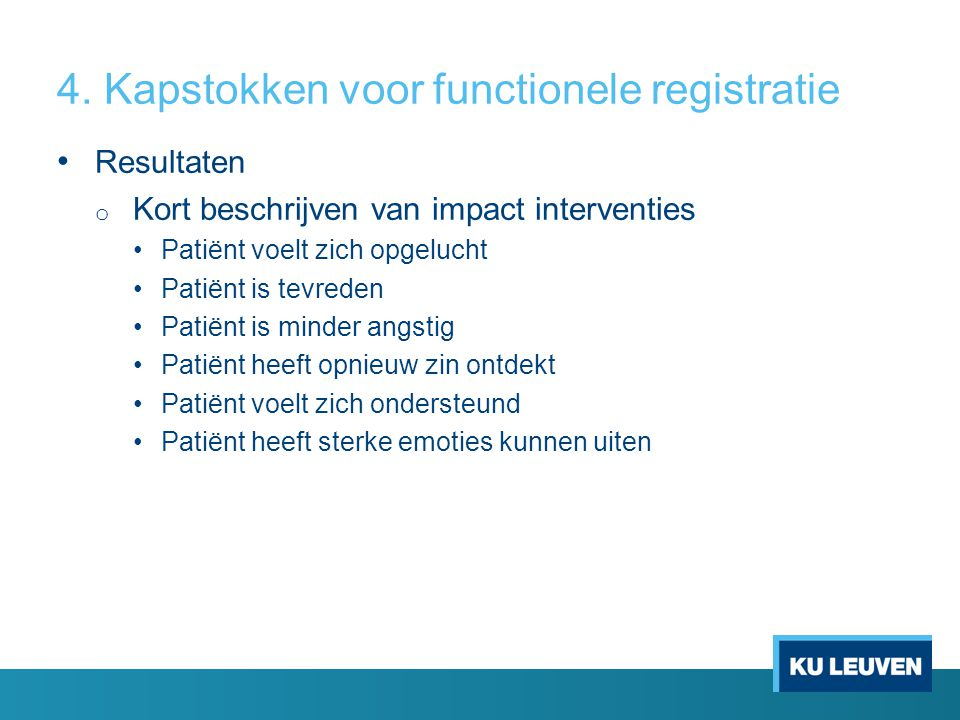 Kapstokken voor functionele registrtaie 4.