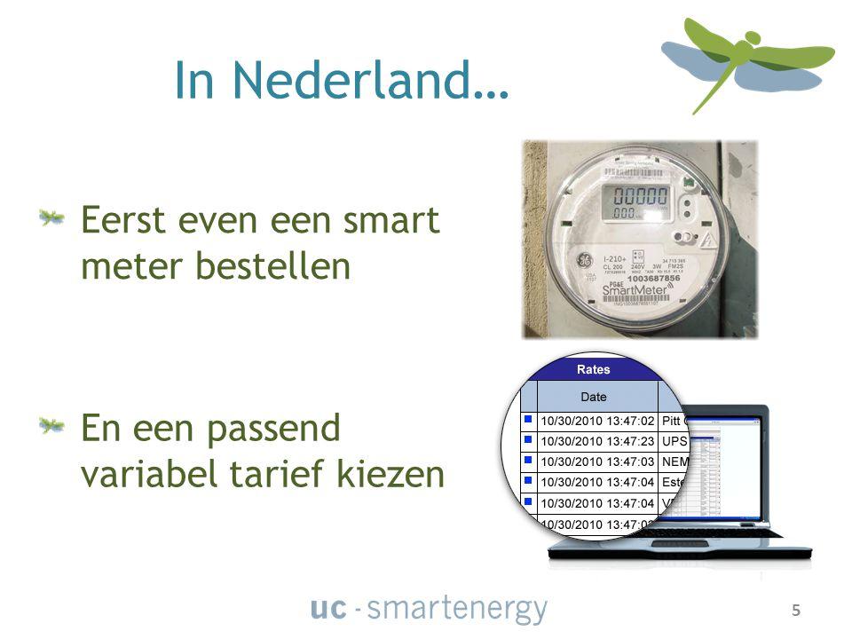 In Nederland… Eerst even een smart meter bestellen En een passend variabel tarief kiezen 5