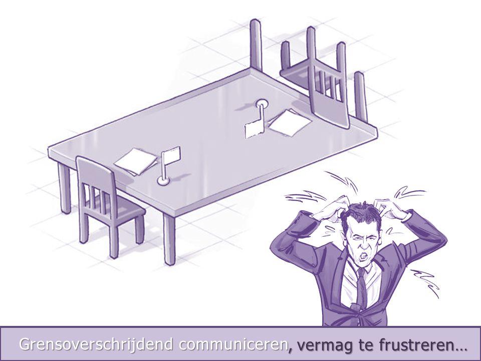 Int. Negotiations, vermag te frustreren…, vermag te frustreren… Grensoverschrijdend communiceren