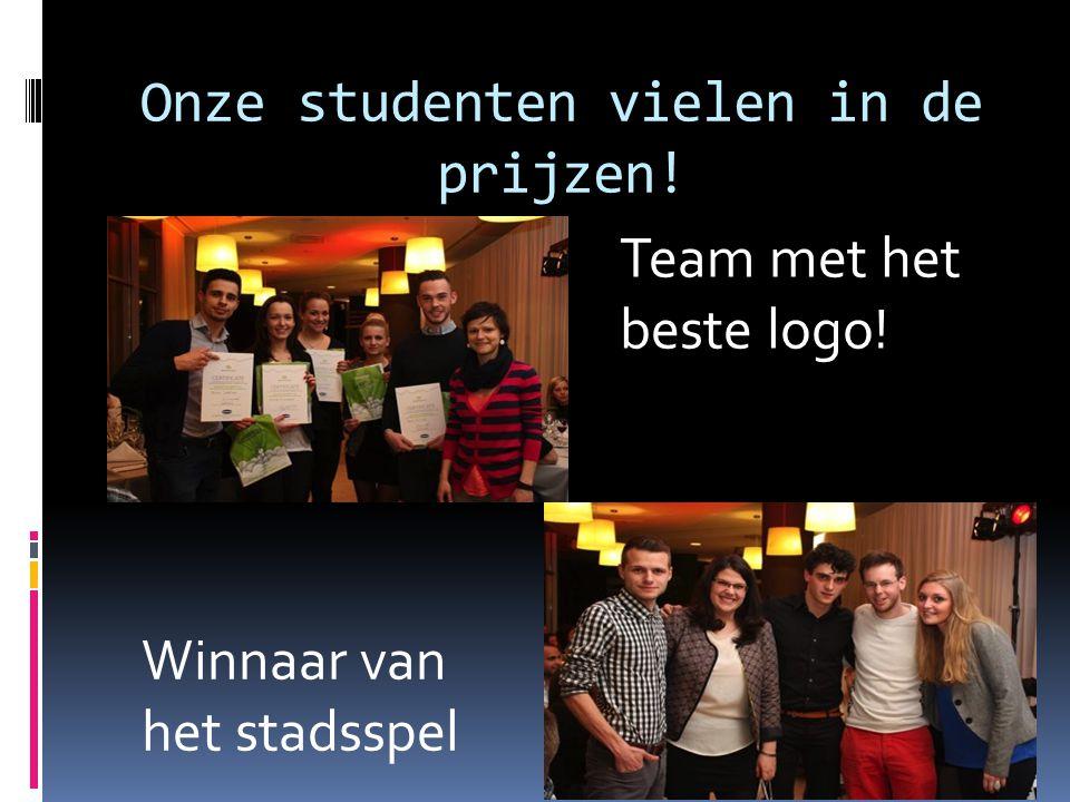 Onze studenten vielen in de prijzen! Team met het beste logo! Winnaar van het stadsspel