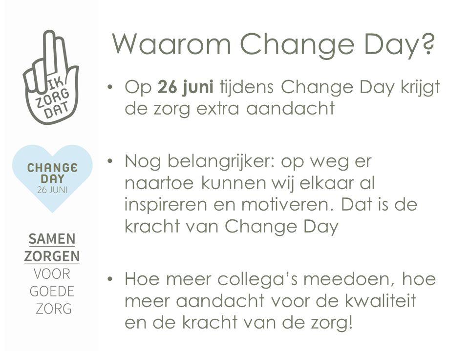 Waarom Change Day.