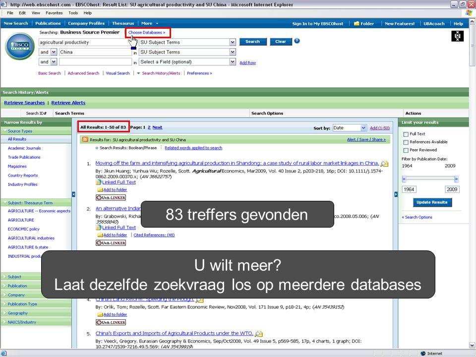 83 treffers gevonden U wilt meer Laat dezelfde zoekvraag los op meerdere databases