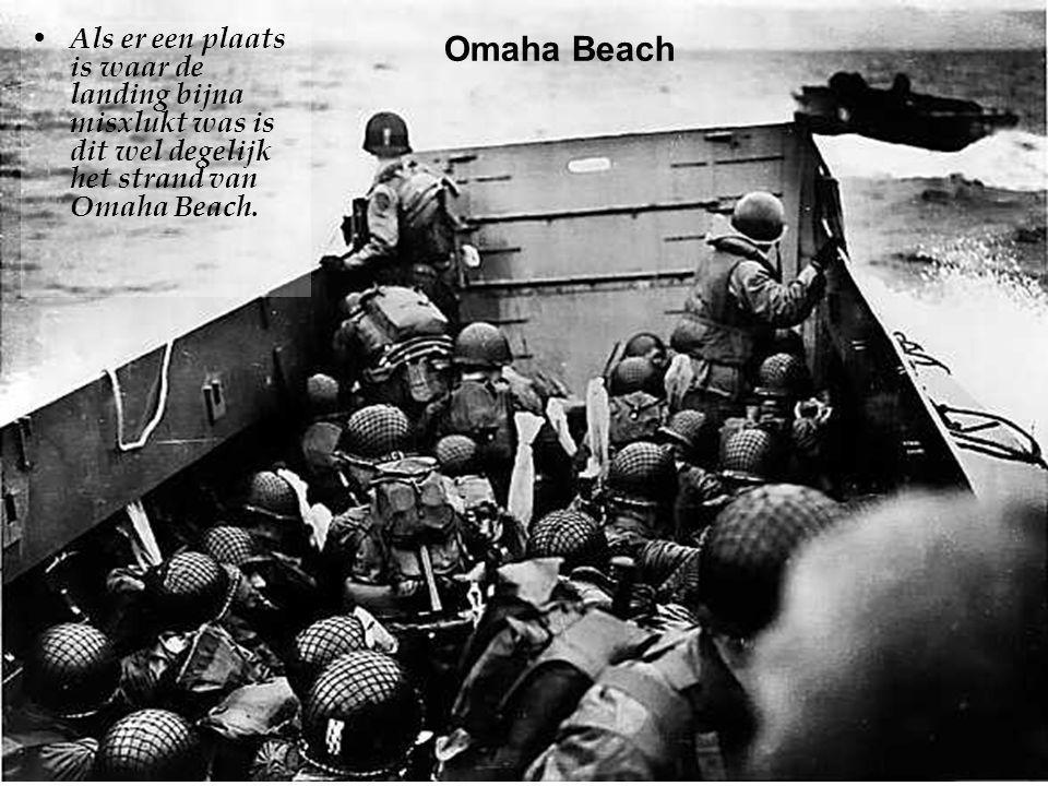 •Op de kust worden eerst de hindernissen opgeruimd door de genietroepen zodat het gros van het leger zonder moeilijkheden kan landen, niettegenstaande de sporadische salvo's van de Crisbec batterij.